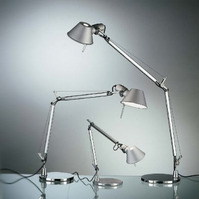 Настольная лампа Artemide Tolomeo Mini Table Aluminum